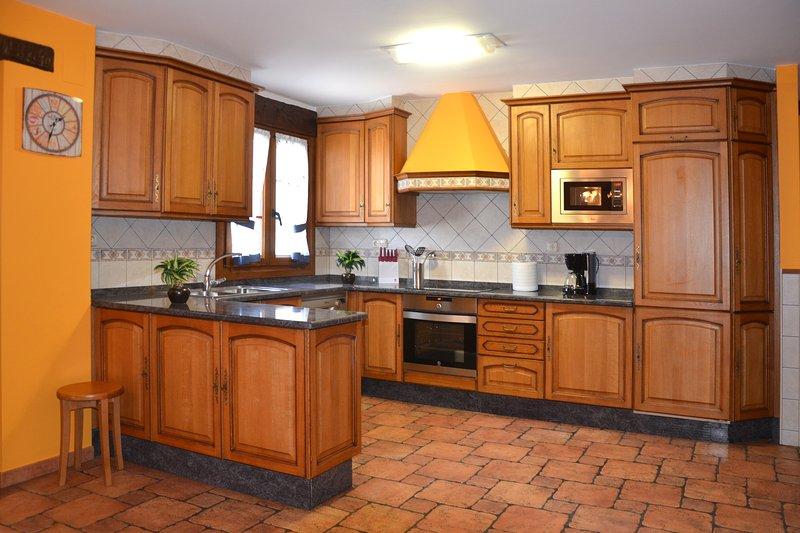 Cocina privada del apartamento rural