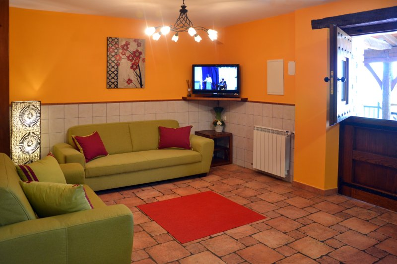 Salón del apartamento rural