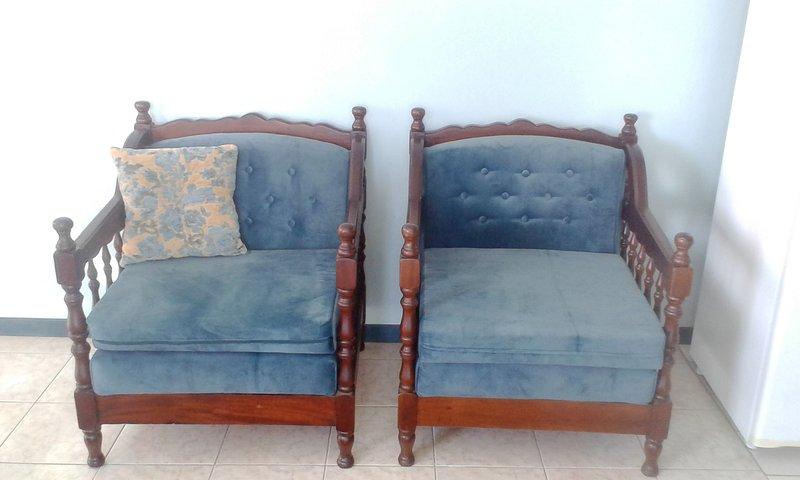 comfortable velvet covered chairrs