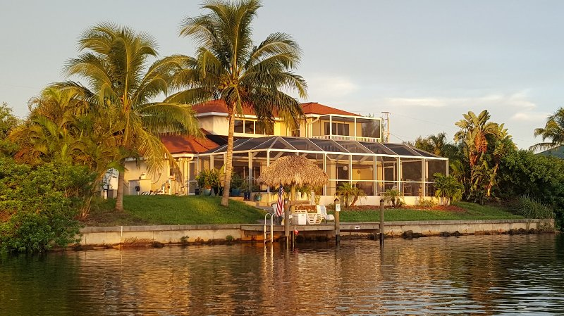 Beautiful West coast Florida waterfront home with a top to