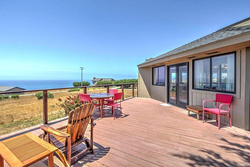 Paso a la terraza y contemplar el hermoso costa!