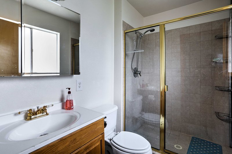 The third bathroom also features a walk-in shower.