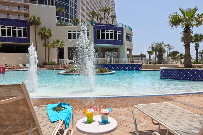 Enjoy relaxing poolside at one of the 5 outdoor pools