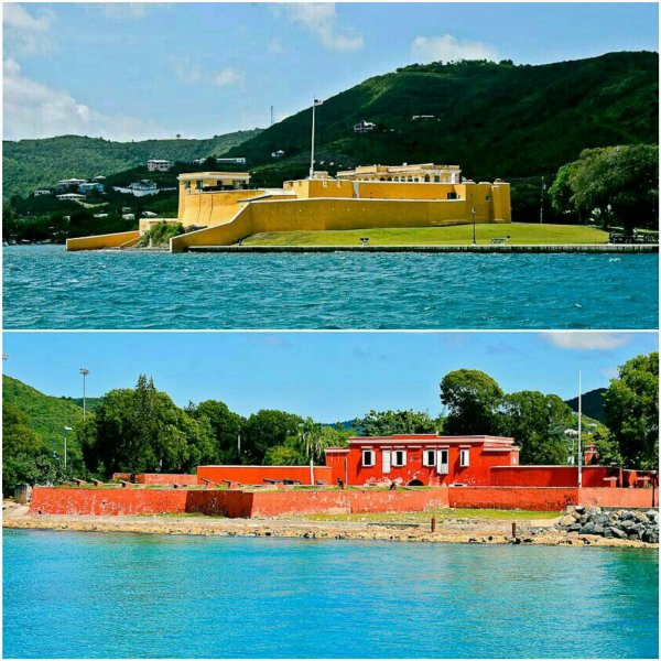 The forts of Christiansted and Fredriksted