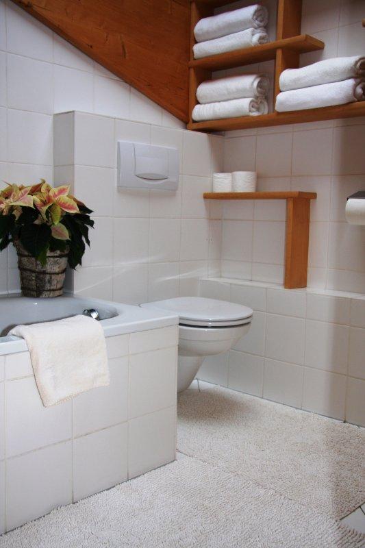 Bathroom with bath and toilet