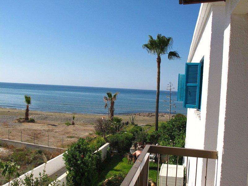balcon avec vue sur la plage