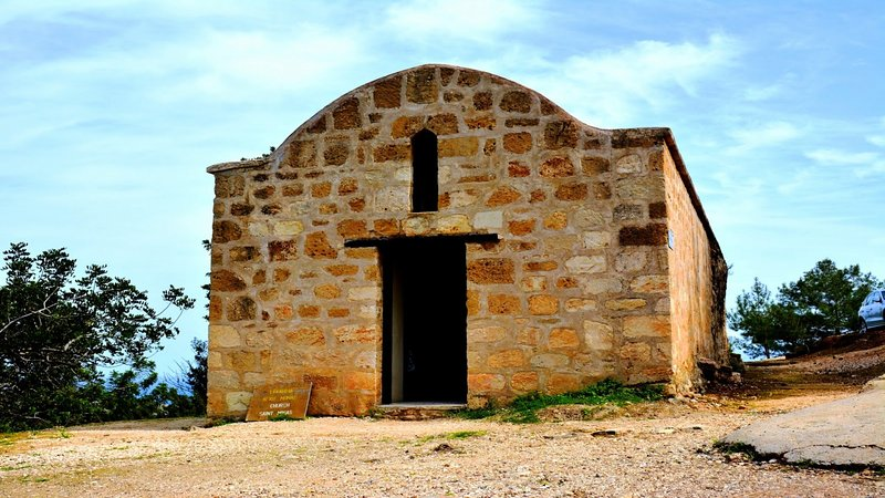 If you drive or walk from Neo Chorio to Akamas you will find this unique church 'Agios Minas'