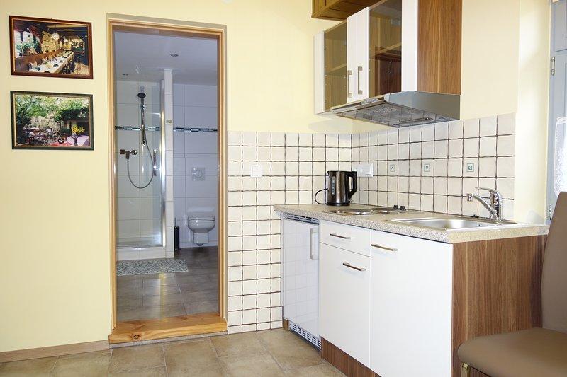 Kitchenette in de woonkamer