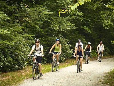 ciclismo Mauntain en Lehigh Gorge State Park (30 min en coche).