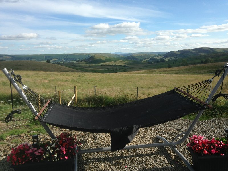Relax with a good book, views towards the Brecon beacons