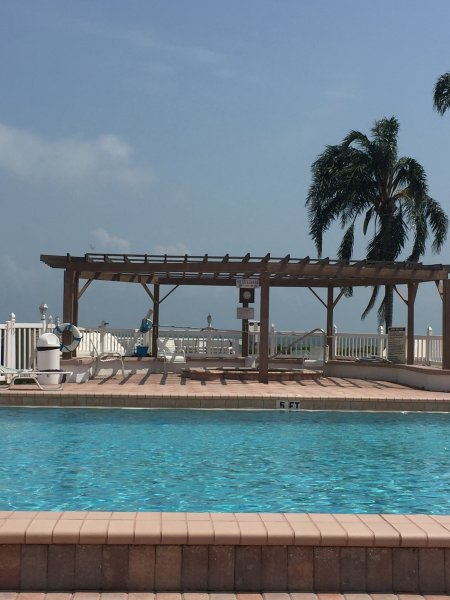 Beautiful newly renovated pool & spa overlooking Boca Ciega Bay