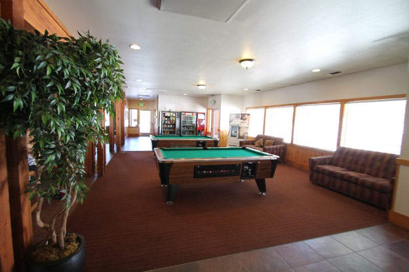 View of the pool tables.