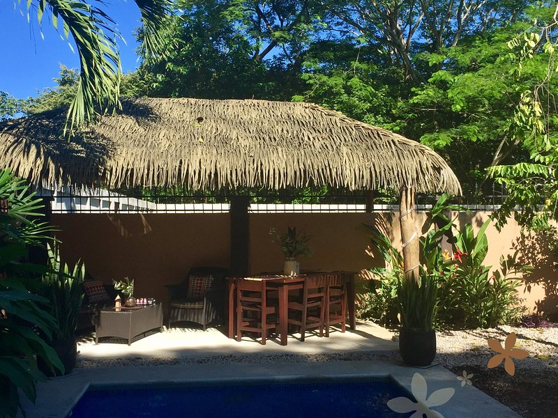 palapa lounge, dining area