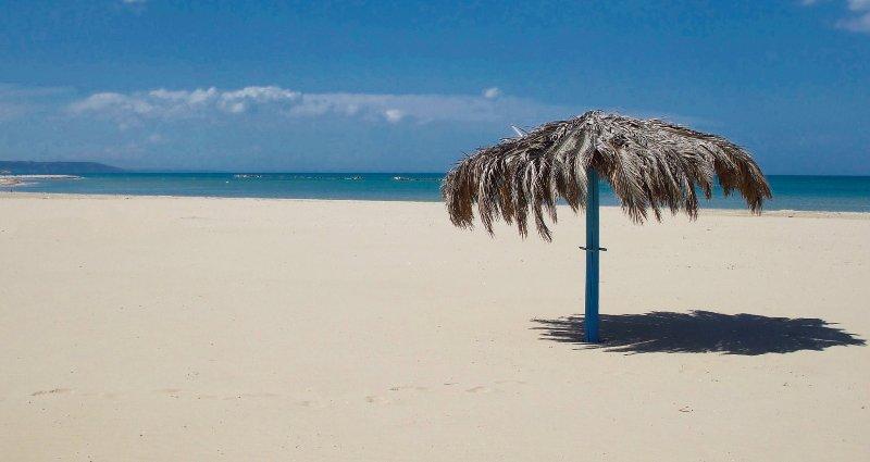 Onze dichtstbijzijnde strand - taken on prachtige dag in mei.