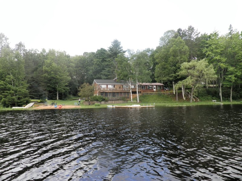 One of the most secluded and largest  private stocked lakes in upper Michigan. No license reguired.