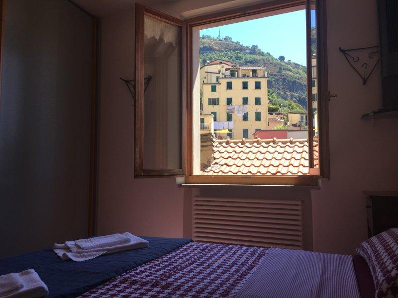 tweepersoonskamer met uitzicht op de bergen