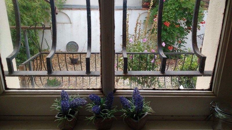 Vista da janela da cozinha.