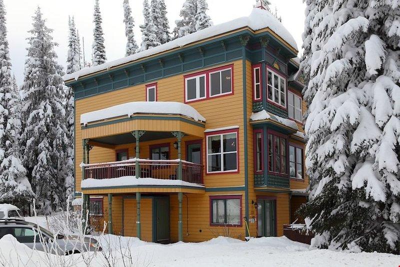 Esta residencia clásica es ideal para vacaciones de invierno.