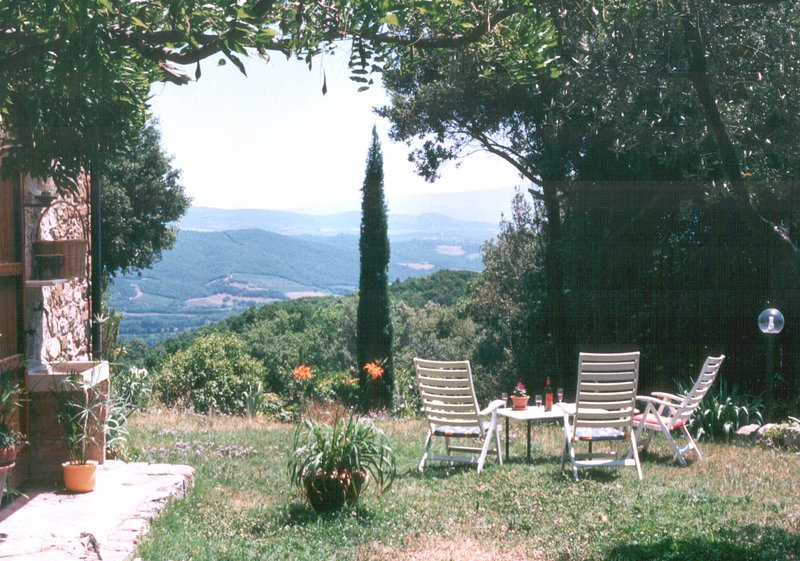 Garden with a panoramic view