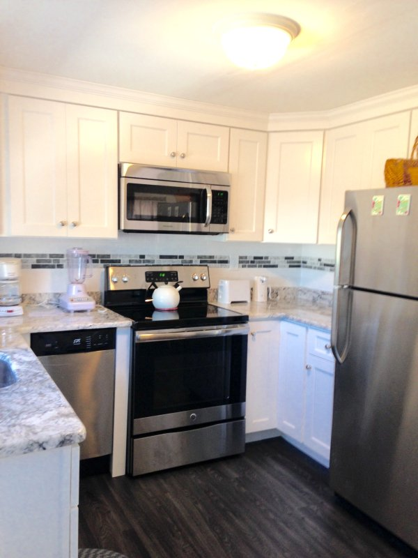 Granite countertops. Stainless appliances.
