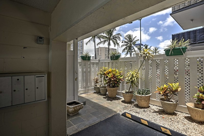 You'll love the tropical foliage surrounding the property.