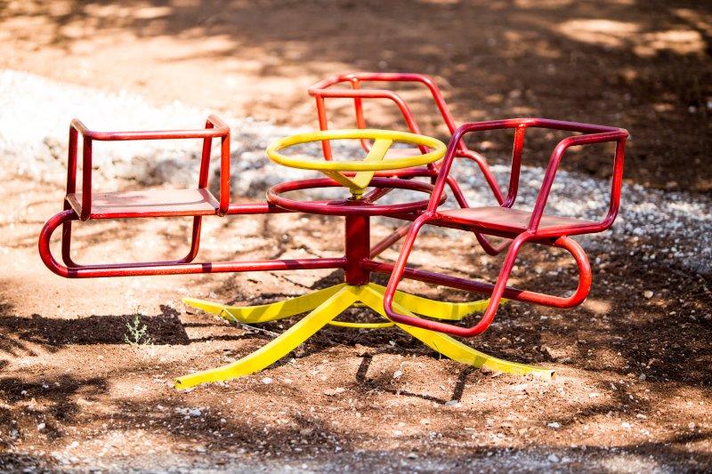 Vintage merry-go-round.