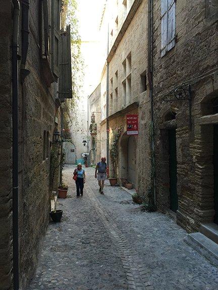 Our lovely cobblestone street.