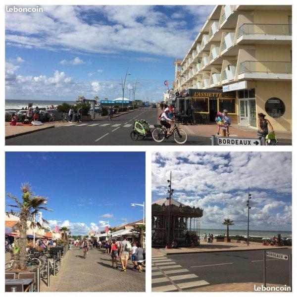 STUDIO 4 COUCHAGES DANS RESIDENCE FRONT DE MER, vacation rental in Lacanau-Ocean