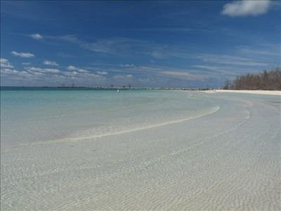 One of many lovely white sand beaches in Freeport