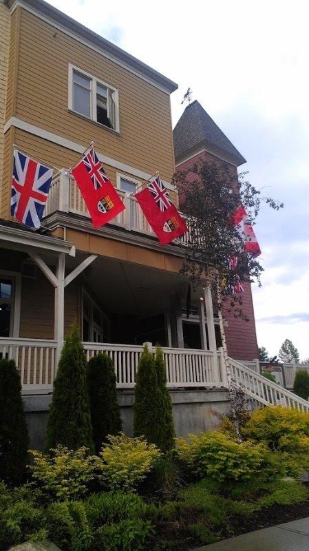 bandeiras Exterior e clocktower