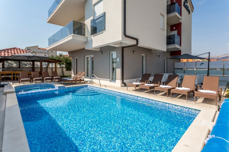 This house is very special because she have five stars and she is very close to city of Split...