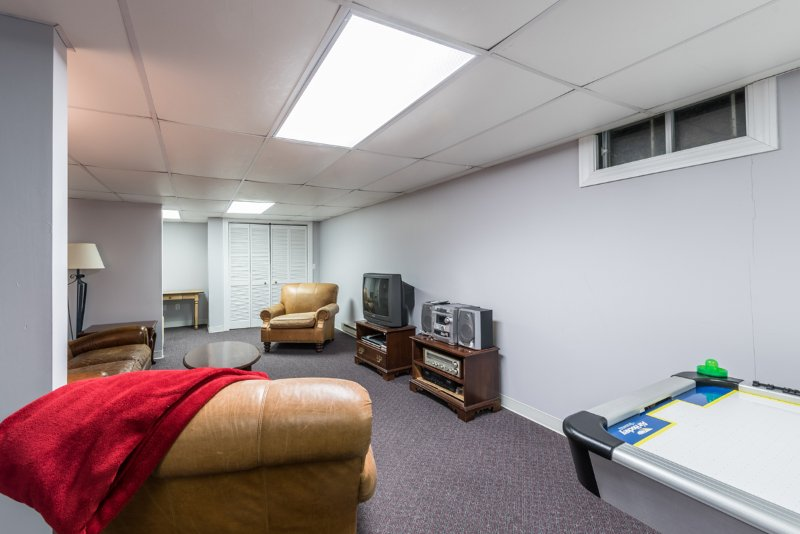 Lower Level TV Room with Game Table