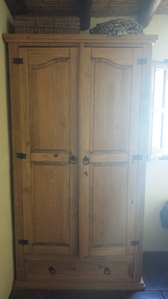 Double size wardrobe in main bed