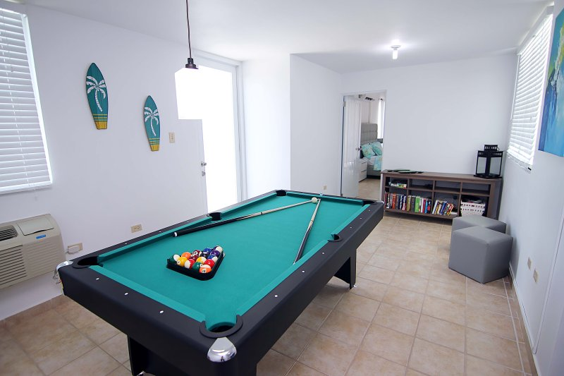 Private Billiard / Ping Pong Table. Door in the left access one of the terraces