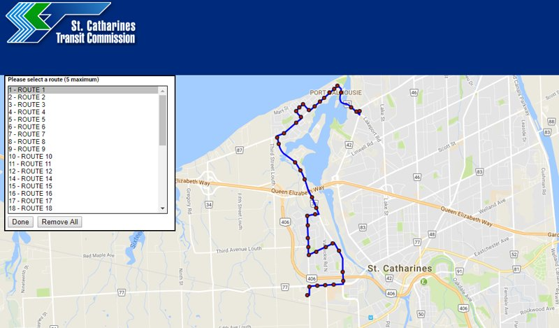 St. Catharines Route Transit Bus # 1