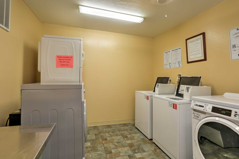 On-site laundry facilities are available guest use during your stay!
