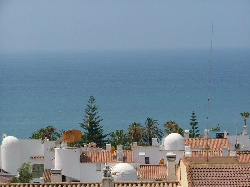 Blick von der Terrasse Gebäuden