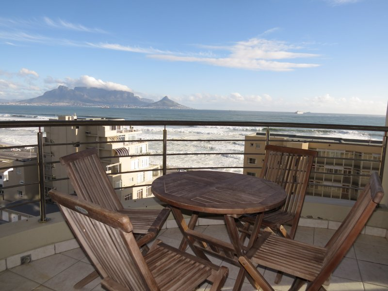 The view - Table Mountain and Lion's Head in the background