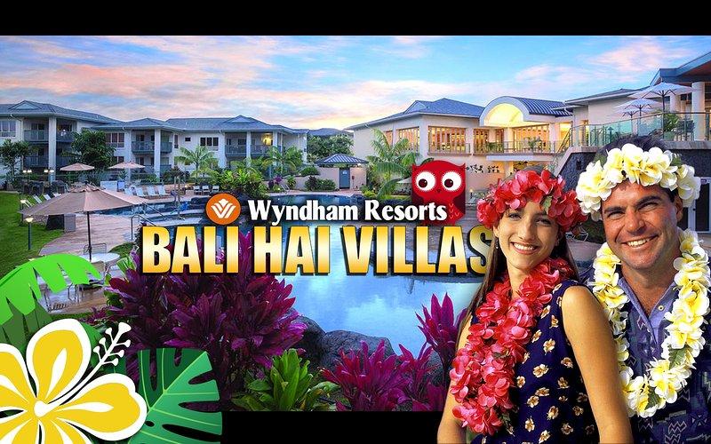 condominio de alquiler de vacaciones en Princeville Kauai. Equipado de 2 dormitorios complejo Wyndham Bali Hai