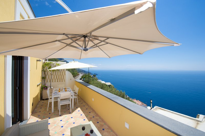 Private Sea View Terrace of Golden Vaults Second Floor