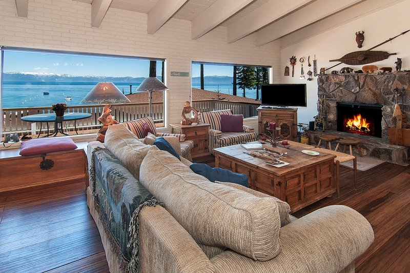 Cozy living room with breathtaking views