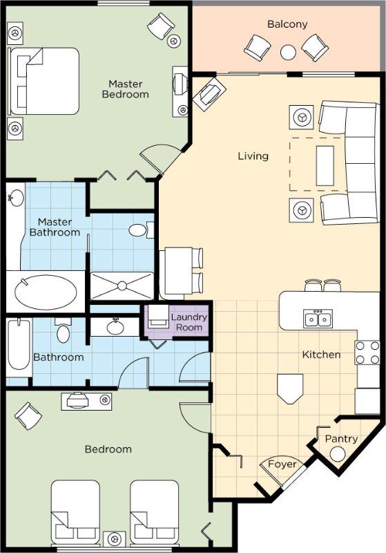 2 Chambre Plan d'étage