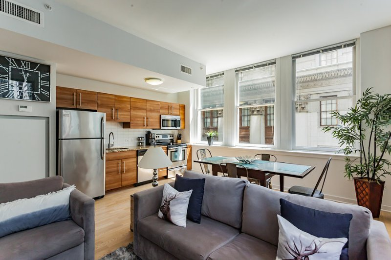 Living - kitchen - dining room