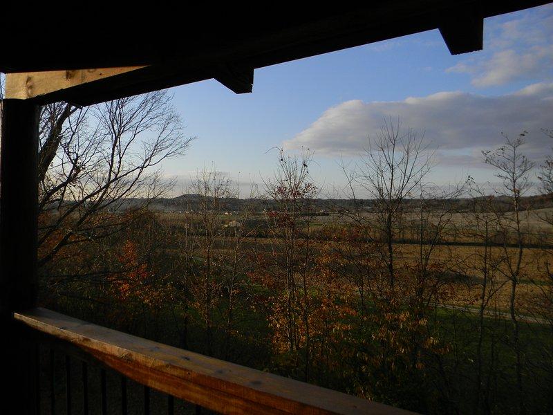 Late autumn - front porch view
