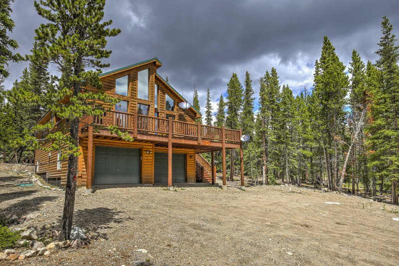 Fairplay Log Cabin W Large Deck Mountain Views Updated