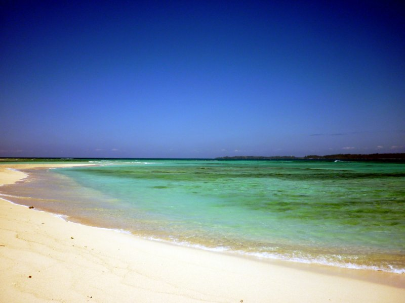 white sands of the islands for swimming or to the MTP
