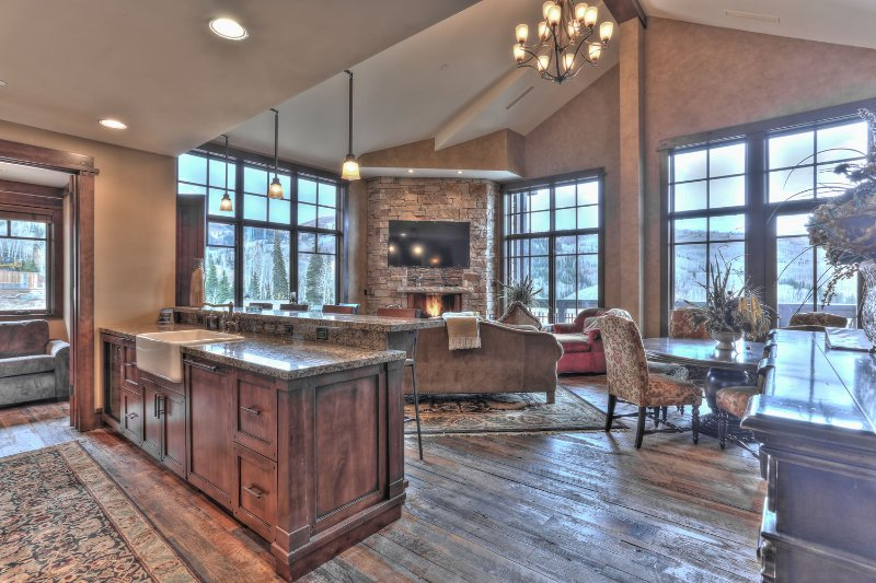 Kitchen, Living and Dining Room