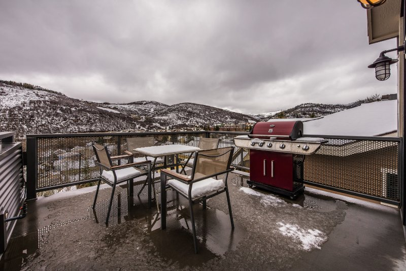 Top Floor Deck with Barbecue Grill, Seating and Amazing Surrounding Views