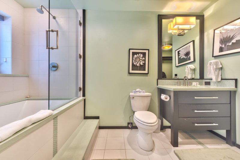 Master Bath with Large Soaking Tub and Shower