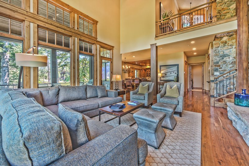 Living Room With Large Hd Tv Dvd Wood Burning Fireplace And Private